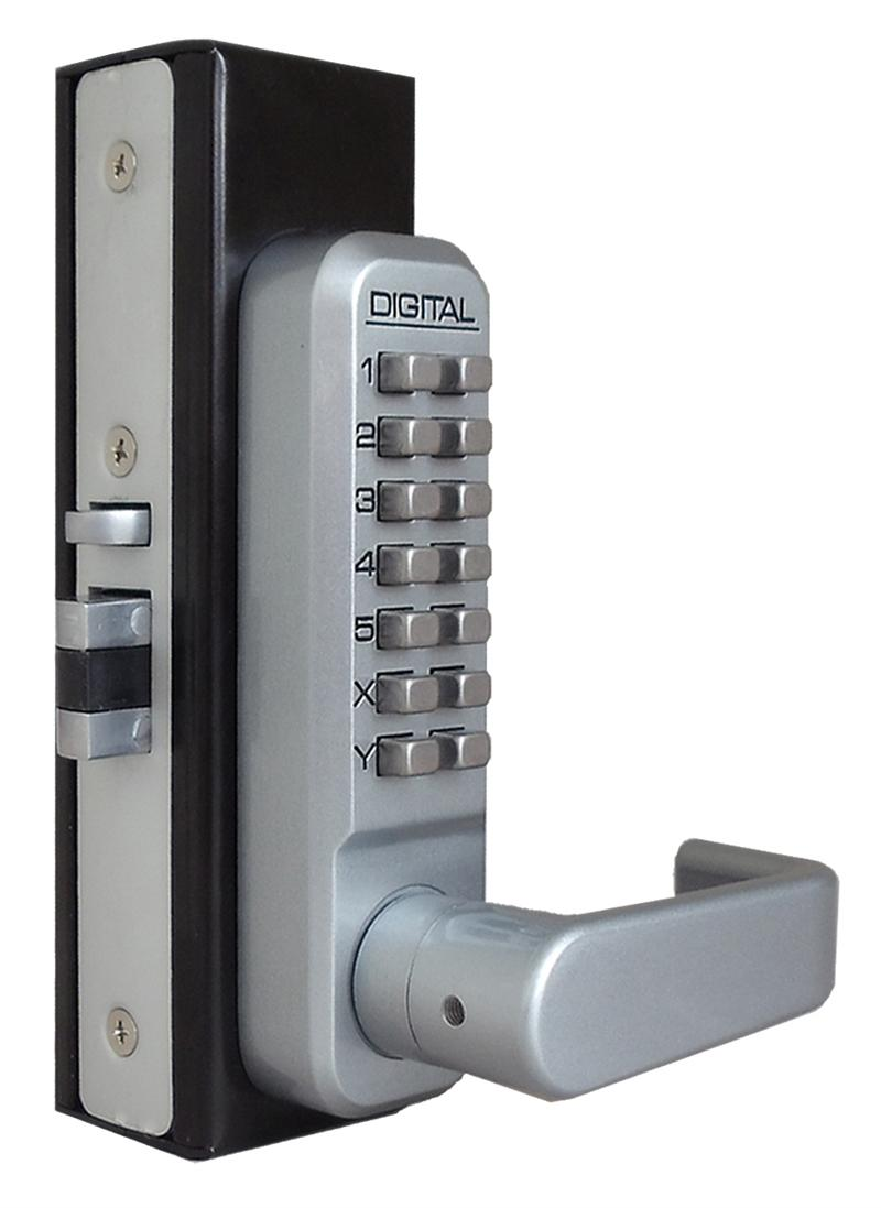 Lockey 2985 keyless mechanical digital adams rite style latch door lock - Sliding door combination lock ...