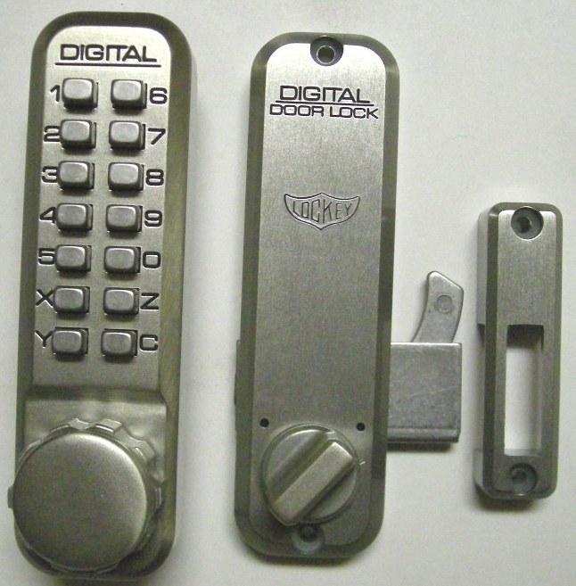 Digital Sliding Glass Door Lock: Lockey 2500 Keyless Mechanical Digital Sliding Door Hook