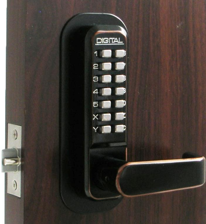 Lockey 2835dc Keyless Mechanical Digital Double Sided