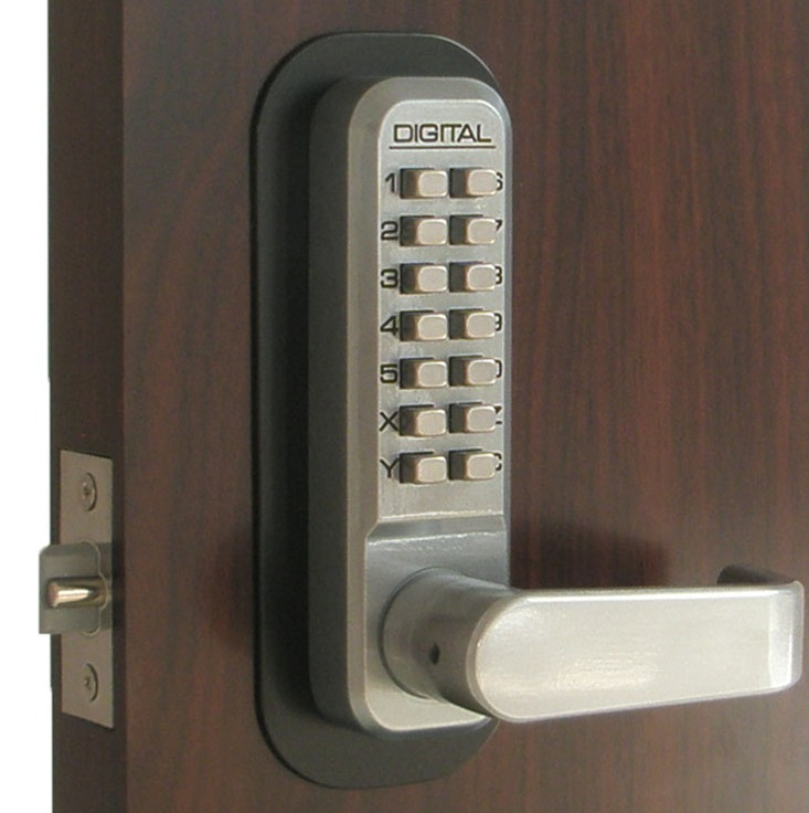 Lockey 2835dc keyless mechanical digital double sided combination spring latch door lock marine