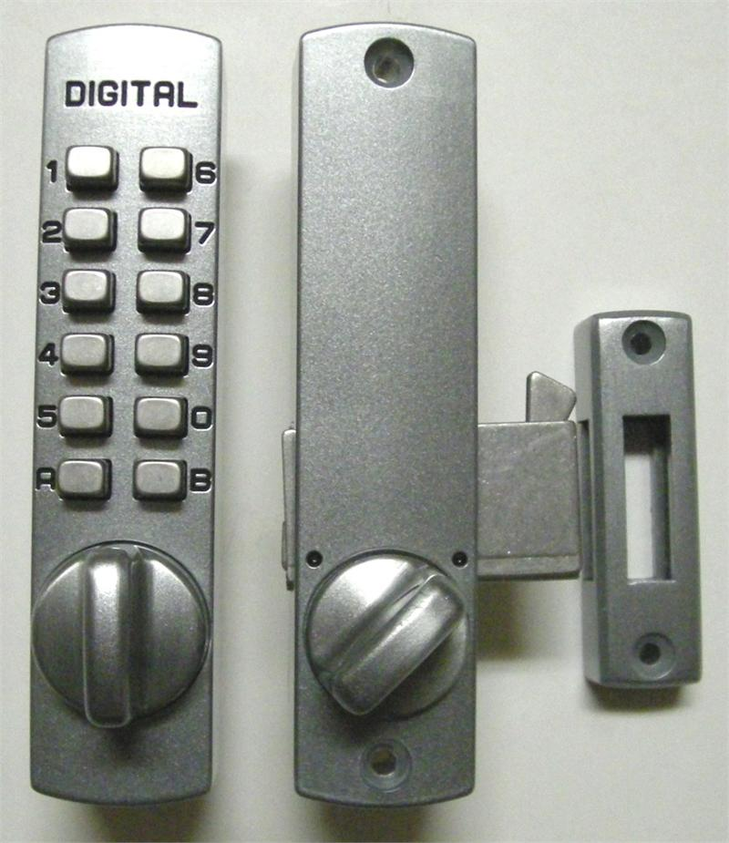 Lockey c150 keyless mechanical digital hook door lock satin chrome - Sliding door combination lock ...