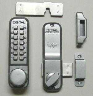 lockey 2200 keyless mechanical digital deadbolt door lock satin chrome. Black Bedroom Furniture Sets. Home Design Ideas