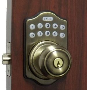 lockey e digital keyless electronic deadbolt door lock antique brass with remote