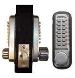 Lockey 2230DC Keyless Mechanical Digital Spring Latch Double Sided Combination Door Lock