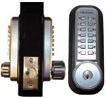 Lockey 2230DC-KO Mechanical Digital Double Sided Combination Door Lock With Spring Latch & Key Override