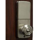 lockey e digital keyless electronic knob door lock satin. Black Bedroom Furniture Sets. Home Design Ideas