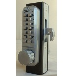 Lockey 2950DC Keyless Mechanical Digital Mortised Hook Bolt Double Sided Door Lock