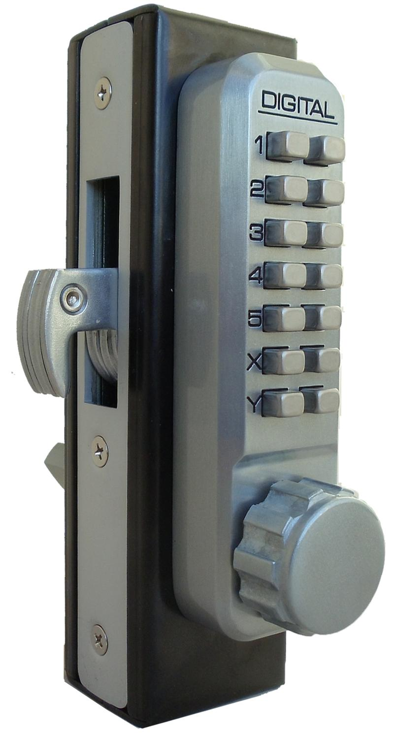 Lockey 2950dc Mg Keyless Mechanical Digital Mortised Hook Bolt Double Sided Door Lock