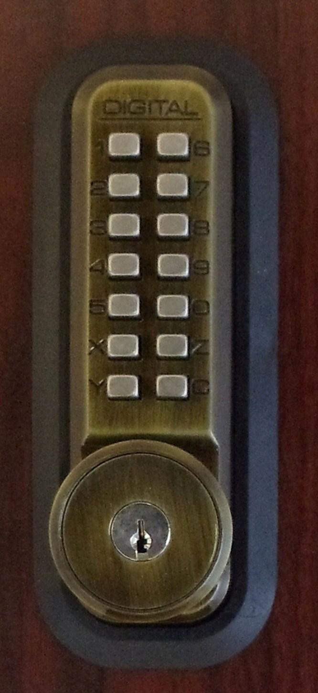 Lockey 2500ko Mechanical Digital Sliding Door Lock With Key Override