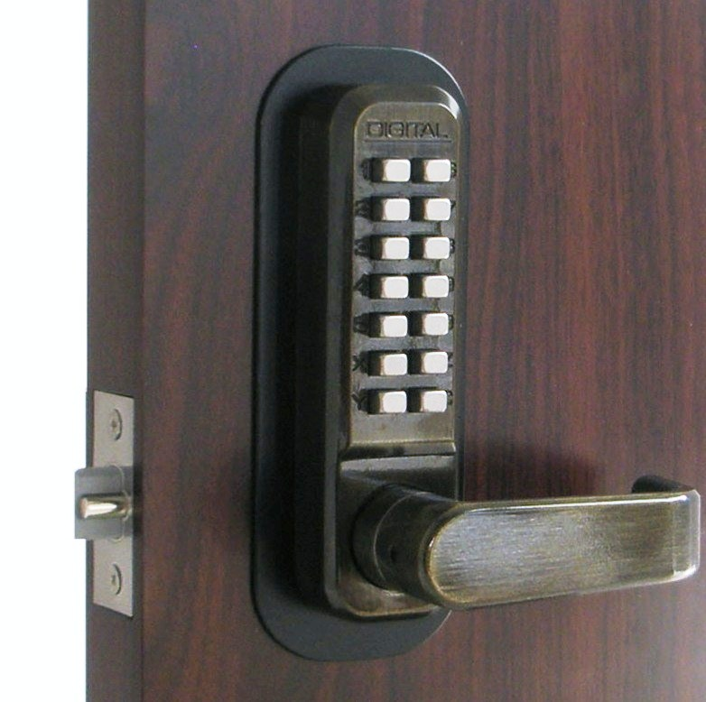 Lockey 2835 Keyless Mechanical Digital Spring Latch Door