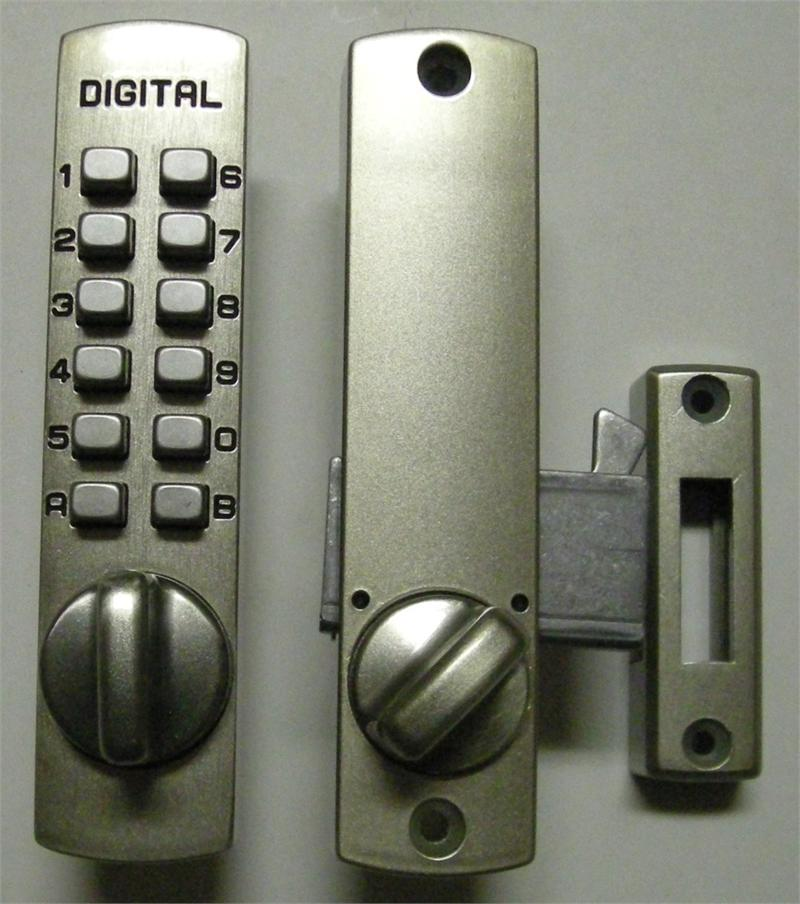 Lockey C150 Keyless Mechanical Digital Hook Door Lock Satin Nickel
