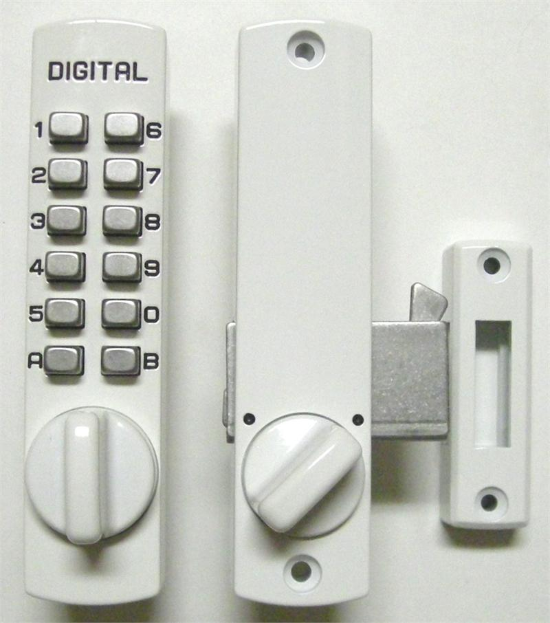 Lockey c150 keyless mechanical digital hook door lock white - Sliding door combination lock ...