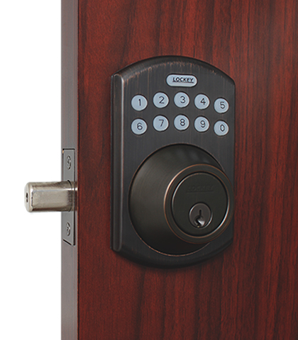 Lockey Eb915 Electronic Bluetooth Keypad Deadbolt Door