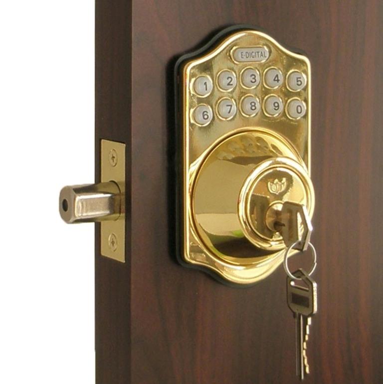 Lockey E Digital Keyless Electronic Deadbolt Door Lock ...  Deadbolt Lock On Door