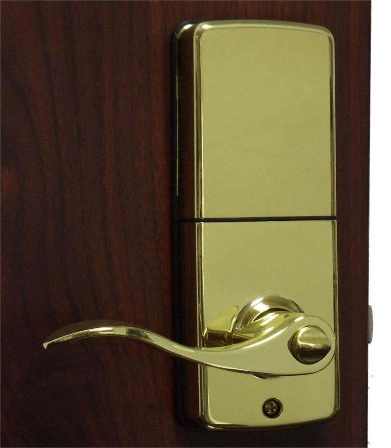 Lockey E Digital Keyless Electronic Lever Door Lock Bright