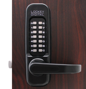Lockey 1150 Keyless Mechanical Digital Spring Latch Door Lock Jet Black