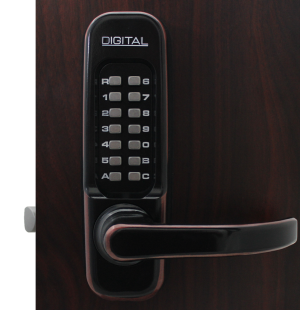 Lockey 1150DC Keyless Mechanical Digital Double Sided Combination Spring Latch Door Lock Oil Rubbed Bronze