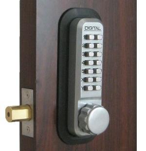 Lockey 2210dc Keyless Mechanical Digital Double Sided Combination Deadbolt Door Lock Satin Chrome