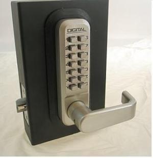 Lockey 2835dc Keyless Mechanical Digital Double Sided Lock Satin Nickel