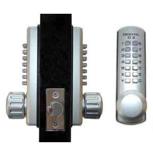 Lockey 3230DC Keyless Mechanical Digital Double Sided Combination Spring Latch Door Lock