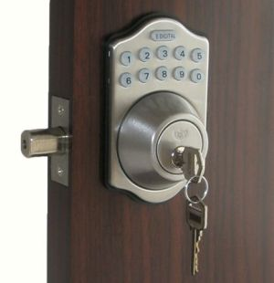 Exceptionnel Lockey E Digital Keyless Electronic Deadbolt Door Lock Satin Chrome With  Remote