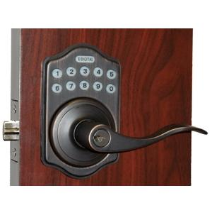 Lockey E Digital Keyless Electronic Lever Door Lock Bronze with Remote
