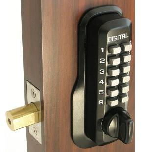Lockey M210DC Keyless Mechanical Digital Double Sided Deadbolt Door Lock Jet Black