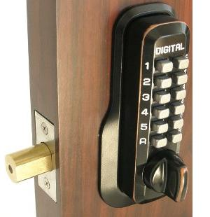 Lockey M210DC Keyless Mechanical Digital Double Sided Deadbolt Door Lock Oil Rubbed Bronze