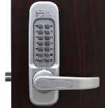 Lockey 1150 Keyless Mechanical Digital Spring Latch Door Lock Satin Chrome/Marine Grade