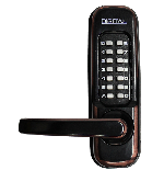 Lockey 1150 Keyless Mechanical Digital Spring Latch Door Lock Oil Rubbed Bronze Left Hand