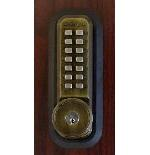 Lockey 2210KO Mechanical Digital Deadbolt Door Lock With Key Override Antique Brass
