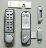 Lockey 2200 Keyless Mechanical Digital Deadbolt Door Lock Satin Chrome