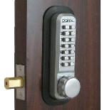 Lockey 2210 Keyless Mechanical Digital Deadbolt Door Lock Satin Chrome