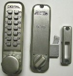 Lockey 2500 Keyless Mechanical Digital Sliding Door Hook Lock Satin Nickel