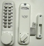 Lockey 2500 Keyless Mechanical Digital Sliding Door Hook Lock White
