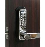 Lockey 2835 Keyless Mechanical Digital Spring Latch Door Lock Bright Chrome
