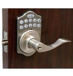 Lockey E Digital Keyless Electronic Door Lock with Lever Handle & Spring Latch
