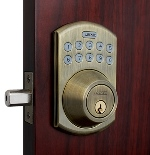 Lockey E-915 E-Digital Keyless Electronic Deadbolt Door Lock With Remote Antique Brass