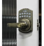 Lockey E-995AB E-Digital Keyless Electronic Lever Door Lock With Remote Antique Brass