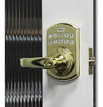 Lockey E-995BB E-Digital Keyless Electronic Lever Door Lock With Remote Bright Bras