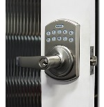 Lockey E-995SN E-Digital Keyless Electronic Lever Door Lock With Remote Satin Nickel