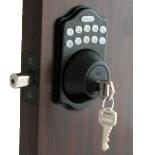 Lockey E Digital Keyless Electronic Deadbolt Door Lock Bronze With Remote