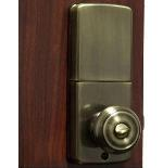 Lockey E Digital Keyless Electronic Knob Door Lock Antique Brass w Remote