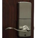 Lockey E Digital Keyless Electronic Lever Door Lock Satin Nickel with Remote