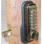 Lockey M210 Keyless Mechanical Digital Deadbolt Door Lock Antique Brass