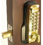Lockey M210 Keyless Mechanical Digital Deadbolt Door Lock Bright Brass