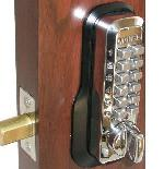 Lockey M210 Keyless Mechanical Digital Deadbolt Door Lock Bright Chrome