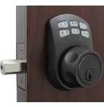 Lockey SL910 Slim Line Keyless Electronic/Mechanical Deadbolt Oil Rubbed Bronze